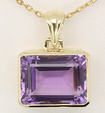 13.03ct Amethyst 9ct 375 Solid Gold Pendant - Free Shipping, 30 Day Returns