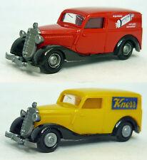 Konvolut Praline: MB 170V Lieferwagen 'Hillerdrops' & 'Knorr' 1/87