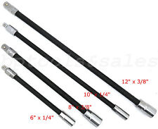 "4pc Flexible Socket Extension Bar Set 6"" 8"" 10"" 12"" Ratchet Flex 1/4"" & 3/8"" DR."