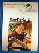 Vintage Magazine Ad Print Design Advertising Kent Cigarettes