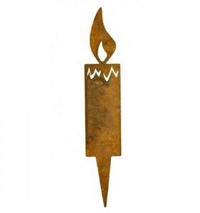 Edelrost Kerzlein/Kerze zum Stecken 4x14cm