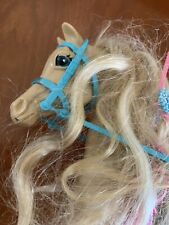Vintage Barbie Horse Blonde Tan With Accessories Saddle Etc. 80's Superstar Era