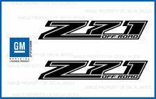 set of 2: 2016 Z71 Off Road Decals - FBLK stickers Parts Chevy Silverado Black