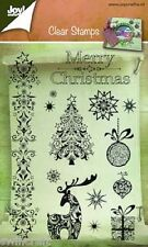 Joy Crafts  - Clear  Stamp Set - MERRY CHRISTMAS 6410/0127 Reduced