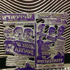 House of Frankenstein House of Dracula Wolfman Metal Ad Block Printing Mold