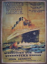 Titanic & Olympic White Star Line poster*