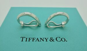 Authentic Tiffany & Co. Etoile Diamond Platinum Clip Earrings in Case - RARE