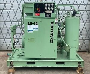 50hp Sullair Screw Compressor, Very Low Hours