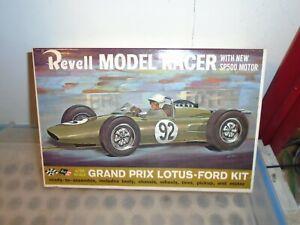 VINTAGE 1963 REVELL MODEL KIT GRAND PRIX LOTUS FORD 1/25 SLOT CAR SP500 MOTOR