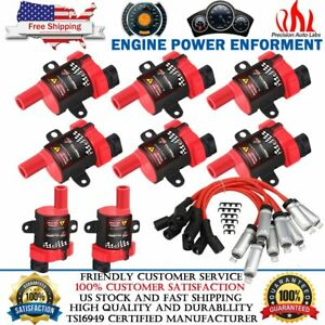 HIGH OUTPUT PERFORMANCE IGNITION COIL PACKS & PLUG WIRES FOR GM LQ4 LQ9 LS1 LS3