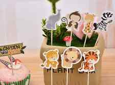 24 PCS WILD ANIMALS MONKEY CUPCAKE CAKE TOPPERS  KIDS PARTY SUPPLIES BIRTHDAY
