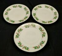 Alco Industries China Holly Berries and Ivy Dinner Plates Set of 3 Romania