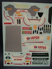 DECALS 1/24 FORD FIESTA RS WRC #16 KUBICA - MONTE CARLO 2015 - COLORADO 24168