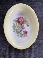Stunning Wood's Ivory Ware Oval Bowl - Chrysanthemum Pattern Vintage Gift Item