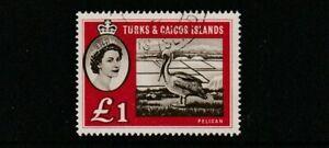 QEII TURKS & CAICOS IS 60  Pelican   superb used  cat  £19