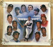 Original Rare 500 Home Run Club Lithograph Poster Babe Ruth Mickey Mantle Aaron