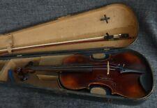alte 4/4 Geige Violine old Violin Label: Josef Guarnerius 1710 Bogen spielfertig