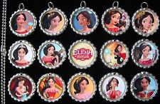 15 Elena of Avalor Silver Flat Bottle Cap Necklaces Set 1