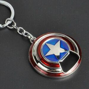 Marvel Avengers Captain America Shield Alloy Keychain Bottle Opener Red Silver