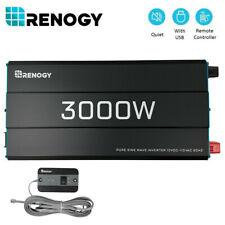 Open Box Renogy 3000W Pure Sine Wave Solar Inverter 12V Battery Power Converter