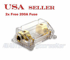ANL Fuse Holder Gold Plated 0/2 Gauge for Car Amp Install 2 Free Fuse 200A F125G