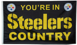 Steelers FLAG 3X5 Pittsburgh Banner American You're In Steelers Country New USA