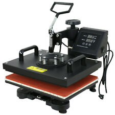 "5in1 Heat Press Machine Digital Dual LCD controller Sublimation Transfer 12""x15"""