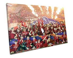 LIVERPOOL FC 2020 PREMIER LEAGUE CHAMPIONS CANVAS WALL ART FRAMED PICTURE PRINT