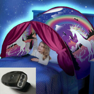 Magical Kids Dream Tents Unicorn Fantasy Foldable Tent Pop Up W/Reading Light H