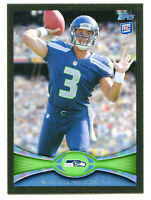 RUSSELL WILSON 2012 Topps Football Black Border Parallel Rookie RC Card SP 18/57