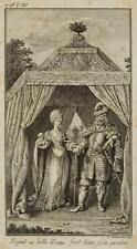 CHODOWIECKI (1726-1801). Sibille und Wittekind in seinem Zelte; Druckgraphik 1