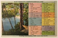 Petoskey, Michigan MI - Busy Person's Correspondence Card Postcard - Jul 23 1940