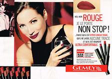 PUBLICITE ADVERTISING 025  1997  GEMEY rouge à lèvres CHRISTY TURLINGTON ( 2p)