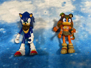 """3"""" 8cm STICKS THE BADGER  AND SONIC THE HEDGEHOG BOOM FIGURE TOY BUNDLE"""