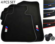 Floor Mats For BMW With M Emblem Color Rounds LHD Vehicle Models 1990-2017 NEW