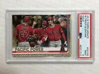MIKE TROUT 2019 Topps Update GOLD SP /2019! PSA MINT 9! w/ SHOHEI OHTANI! #US189