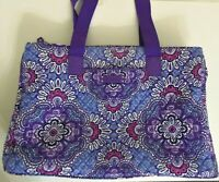 Vera Bradley Lilac Tapestry Overnight Weekender Quilted Tote Travel Bag Retired
