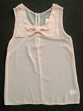 Hot Options Sleeveless Bow Blouse - Size 8 - New With Tags