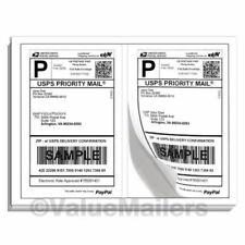 Las etiquetas de envío de correo Premium 8.5x5.5 medio Hojas Autoadhesivas 100 -10000 EE. UU.