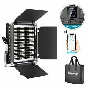 Neewer 528 LED Video Light, Dimmable Bi-Color Photography Lighting Kit with APP