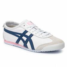 Asics Onitsuka Tiger Women's MEXICO 66 Shoes White/Blue 1182A078-104 d