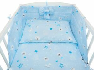 Baby Bedding 120 x 90 cm Set 3 Teddy Stars Blue - Bow Free!!!  FasT DeliverY!