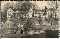 Ansichtskarte Bad Sulza - Kurhaus mit Passanten - schöne Aufnahme - schwarz/weiß