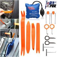 13Pcs Pump Wedge Clam+ Car Panel Removal Tools Kit Dash Door Radio Trim