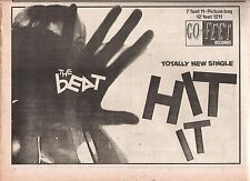 The BEAT Hit It 1981 (Go ) UK Press ADVERT 12x8 inches