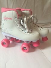 Roller Derby Roller Star 350 Girls Quad Skate Size 5 White/Pink