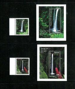 Samoa #'s 1140-41. 1154-55 XF MNH. Waterfalls. Cat. 29.90