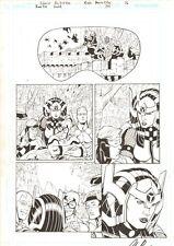 Booster Gold #34 p.16 Blue Beetle, Big Barda, Mister Miracle 2011 Chris Batista