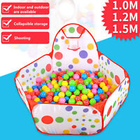 Portable Kids Children Ball Pit Pool Play Tent For Baby Indoor Outdoor