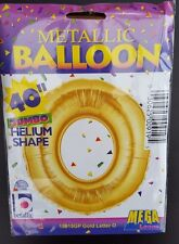"""Jumbo Giant 40"""" Letter Foil Balloon - Uninflated Gold  NEW IN SEALED PACK  """" O """""""